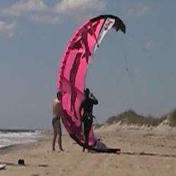 Launching a kite